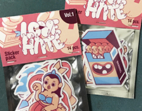 Love Hate stickers pack Vol.1