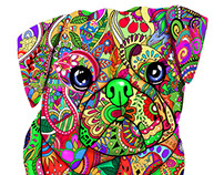 multicolor t-shirt design (dogs)