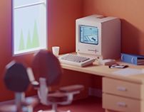 Vintage 80s office