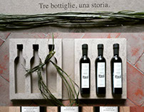 OliVi,extra virgin olive oil, a book for 3 bottles: