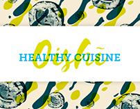 Oishi healthy cuisine branding