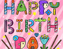 Glico - Pocky happy birthday Card