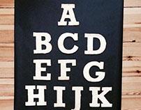 Typografische Plätzchen