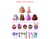 Cakes & Sweets Game Graphics