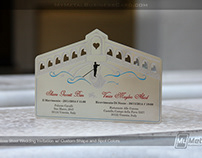 Stainless Steel Custom Shape Metal Invitation