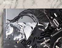 """DΛRK DΞΞP SPΛCE"" concept calligraphy canvas"