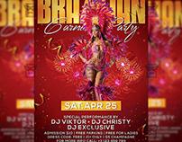 Brazilian Carnival Party Flyer - Seasonal A5 Template