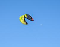 Kite-surfing in Diani beach Kenya