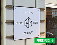 Free Store Signs Mock-up 2