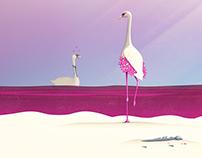 Flamingo Fatale | Digital Art