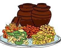 Food illustration: This cuisine in a jar
