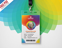 Free PSD : Corporate Branding Identity Card PSD