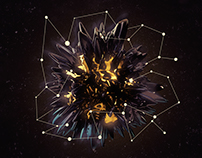 Black and Gold Abstract : Render 1