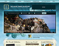 luxury travel collection website layout