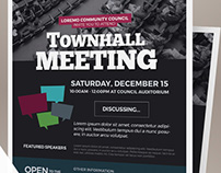 Town Hall Meeting Flyer Templates