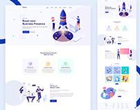 Ruines - Digital Agency Landing Page