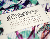 ETLettering Hand-made Business cards / 2015