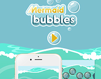 Mermaid Bubbles Game Interface