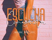 ESCUCHA CONSUELA - FREE STYLISH & MODERN FONT DUO
