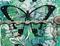 Mixed Media Butterfly Journal
