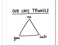 Love Triangles Greetings Card Collection
