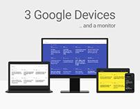 Google Devices Mockup + a Monitor