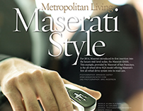 Maserati Style for Chic Metropolitan Magazine