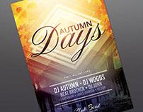 Autumn Days Flyer