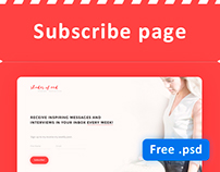 Subscribe email page (FREE)