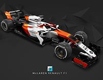 2018 McLaren Honda F1 Concept Liveries.