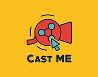 CastME.com logo identity