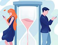 Illustrations for dating app
