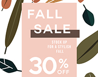 Fall sale layout