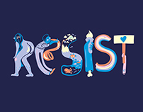 Resist | Illustrated Letters