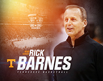 Rick Barnes Announcement Graphics