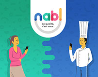 Nabl - Branding, illustration & webdesign
