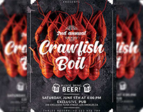 Annual Crawfish Boil Flyer - Food A5 Template