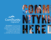 Community HigherEd Brochure Designs