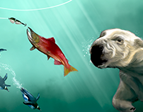 Fishing game - graphics assets prototype