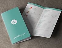 Print: Bubbletease Menu