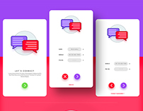 Let's connect app UI design