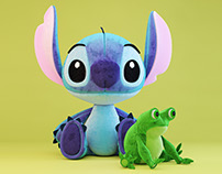 3d model of stitch & frog toy