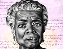 The Beautiful People - Maya Angelou (Digital Painting)