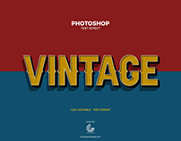 Free Vintage Photoshop Text Effect