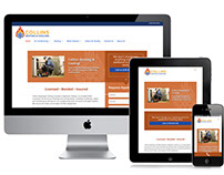 Collins Heating & Cooling Custom Wordpress Theme.