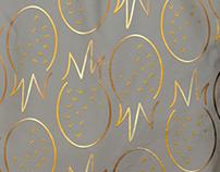wacky pineappy pattern + tote