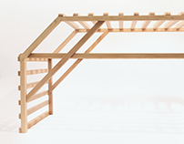 Hatched: an Entryway Bench