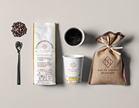 Packaging concept for a coffee roastery brand.
