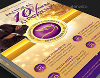 Clergy Anniversary Flyer and Poster Template
