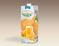 Orange Juice Bottle Tetra Brik Mockup